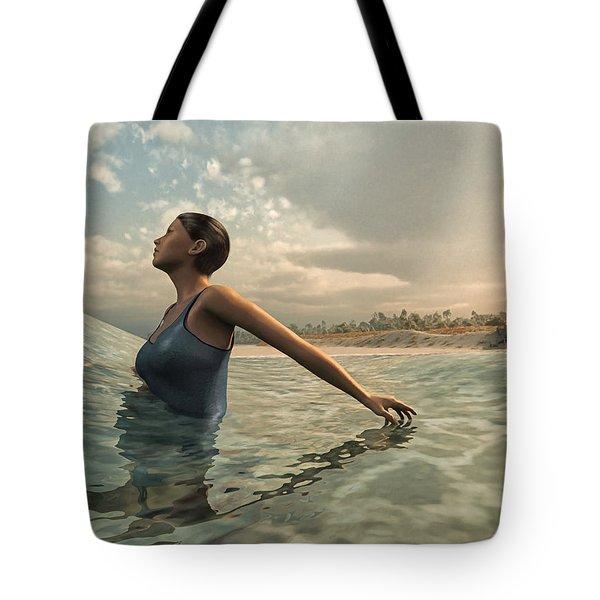 Bather Tote Bag by Cynthia Decker