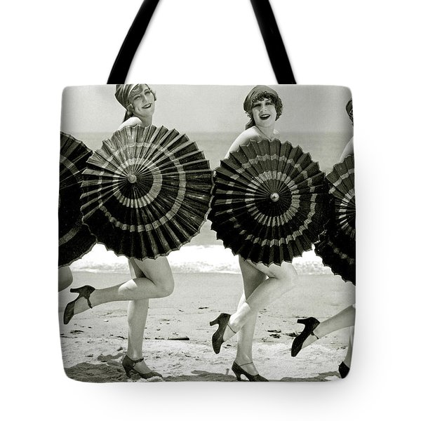 Bathing Beauties With Parasols Tote Bag