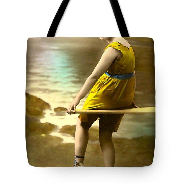 Bathing Beauty In Yellow  Bathing Suit Tote Bag
