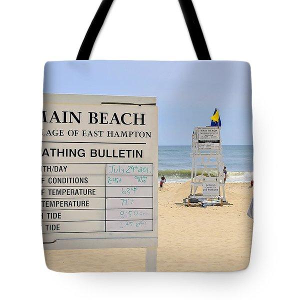 Bathing Bulletin Tote Bag