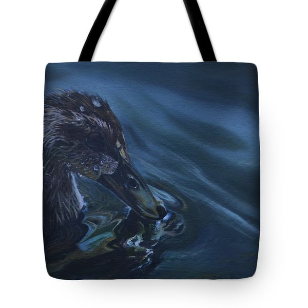 Bathing Duckline Tote Bag