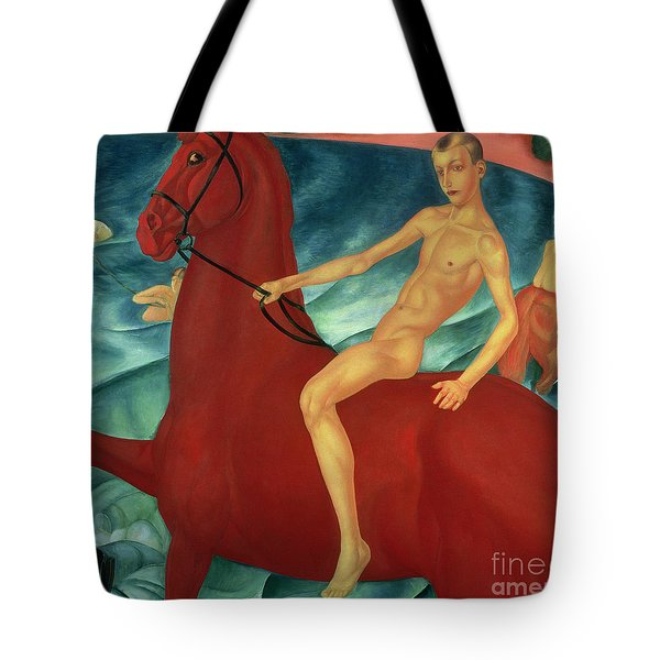 Bathing Of The Red Horse Tote Bag by Kuzma Sergeevich Petrov-Vodkin