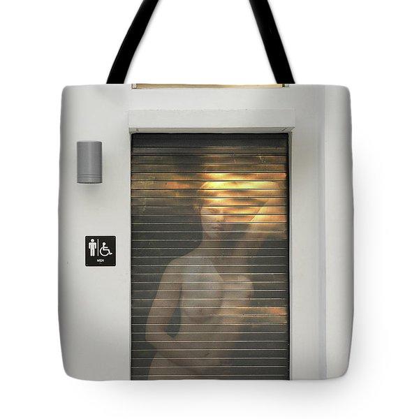 Bathroom Door Nude Tote Bag