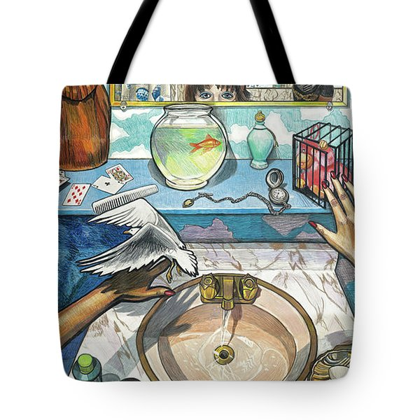 Bathroom Self Portrait Tote Bag