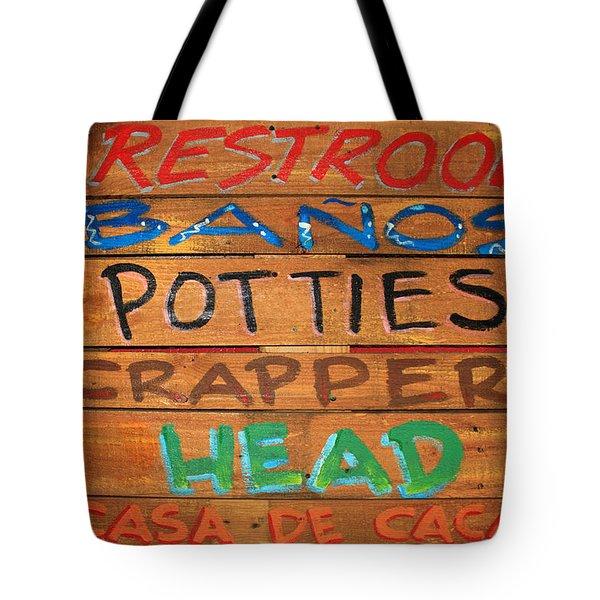 Bathroom Sign Tote Bag