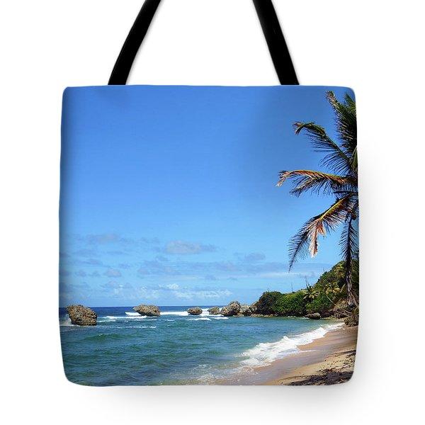 Tote Bag featuring the photograph Bathsheba, Barbados, by Kurt Van Wagner