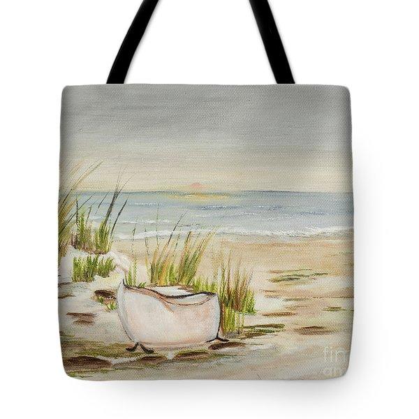 Bathtub Beach Tote Bag