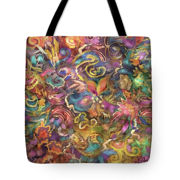 Batik Colorburst Tote Bag