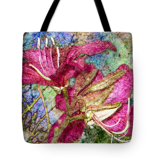 Batik Lilies Tote Bag