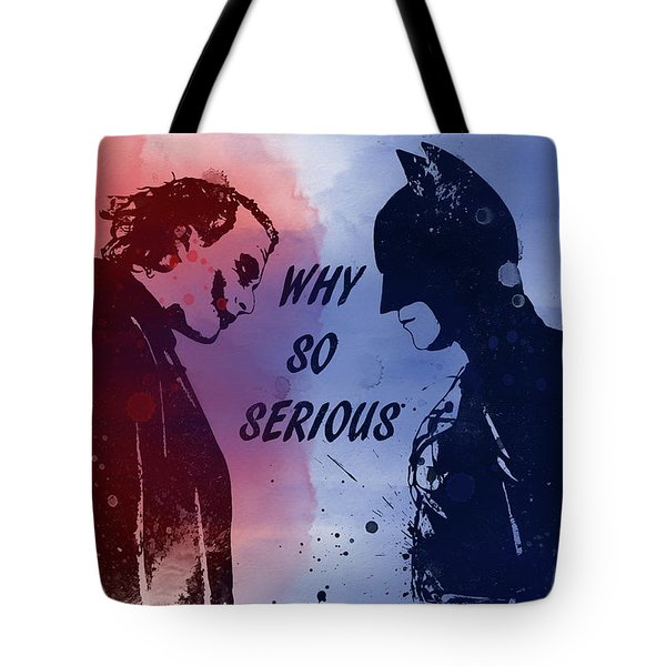 Batman And Joker Tote Bag