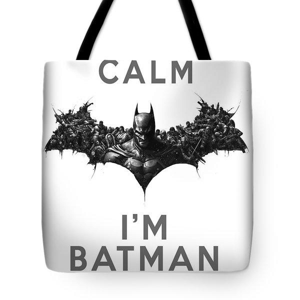 Batman Keep Calm Tote Bag