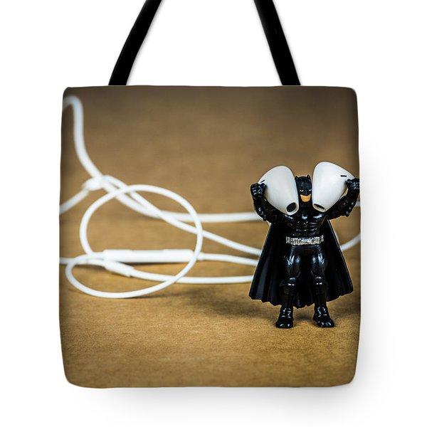 Batman Likes Music Too Tote Bag