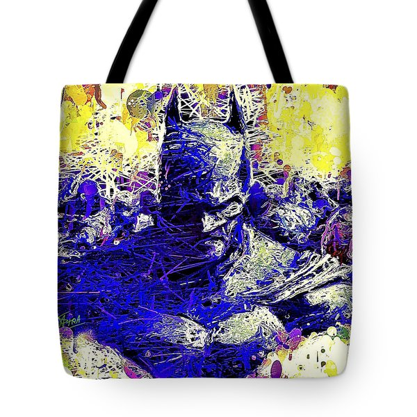 Tote Bag featuring the mixed media Batman 2 by Al Matra