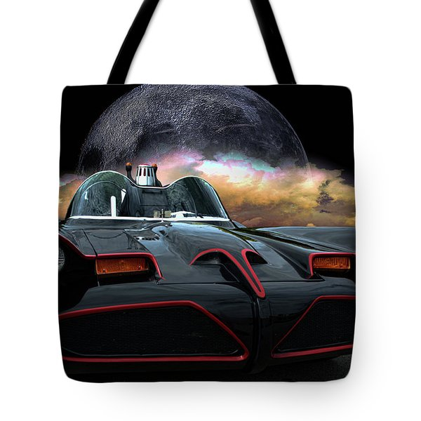 Batmobile Tote Bag by Tim McCullough