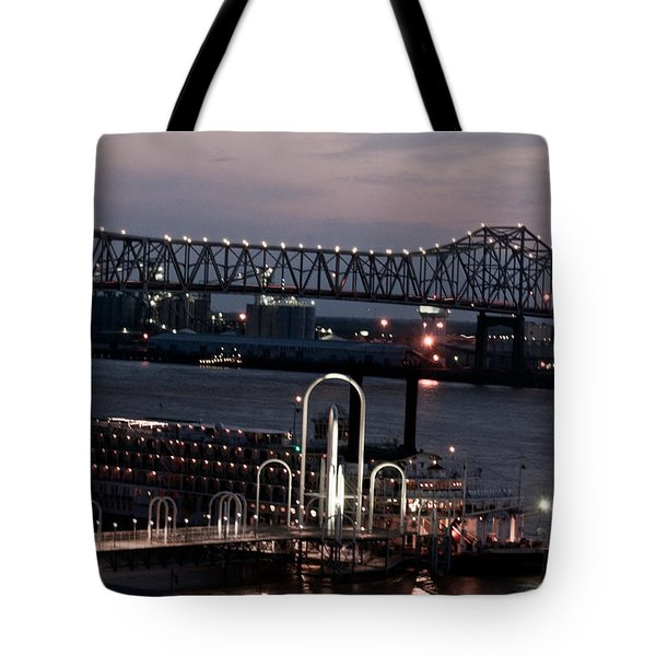 Baton Rouge Bridge Tote Bag