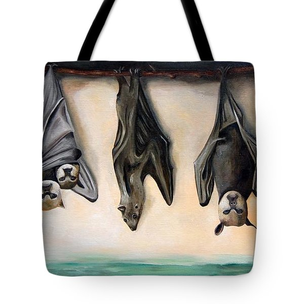 Bats Tote Bag by Leah Saulnier The Painting Maniac