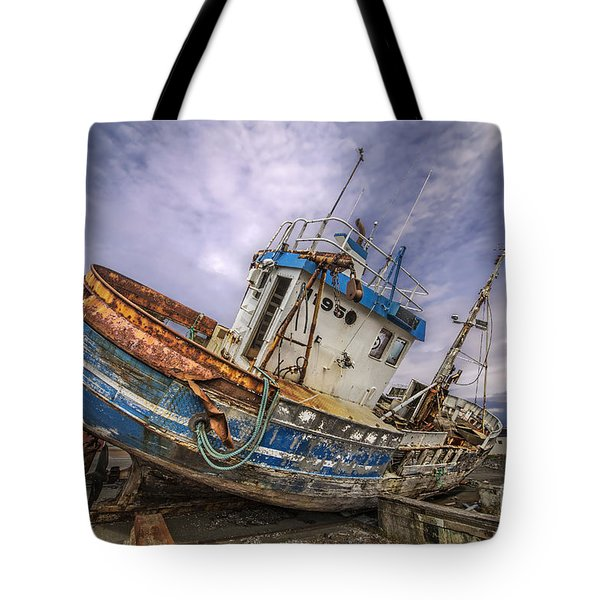 Battered Boat Tote Bag by Roman Kurywczak