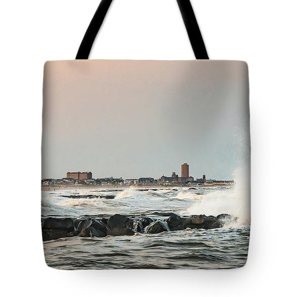 Battering The Shark River Inlet Tote Bag