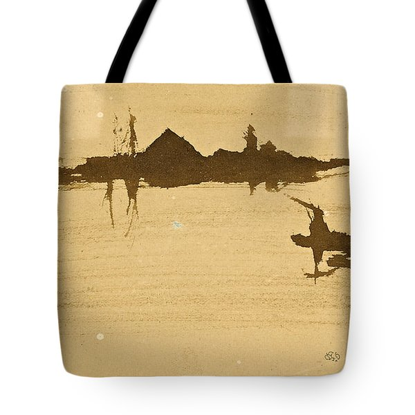 Battersea Reach Looking  Across The Thames Tote Bag