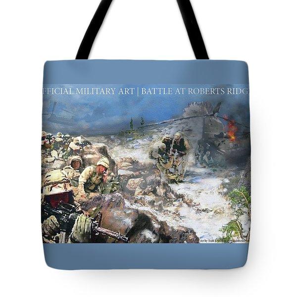 Battle At Roberts Ridge Tote Bag by Todd Krasovetz