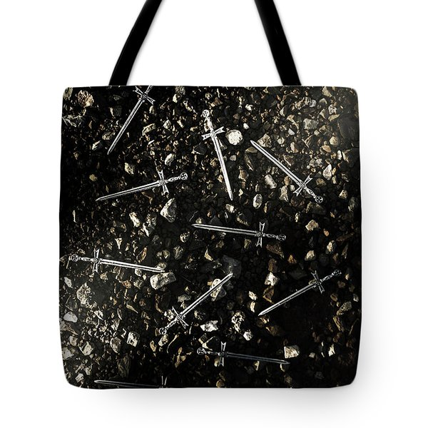 Battle Blades Tote Bag