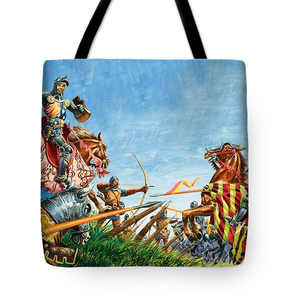 Battle Of Agincourt Tote Bag