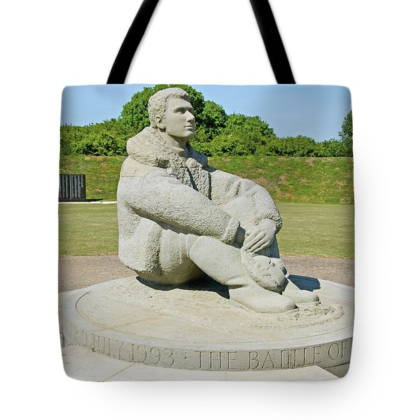 Battle Of Britain Memorial Tote Bag by Chris Thaxter