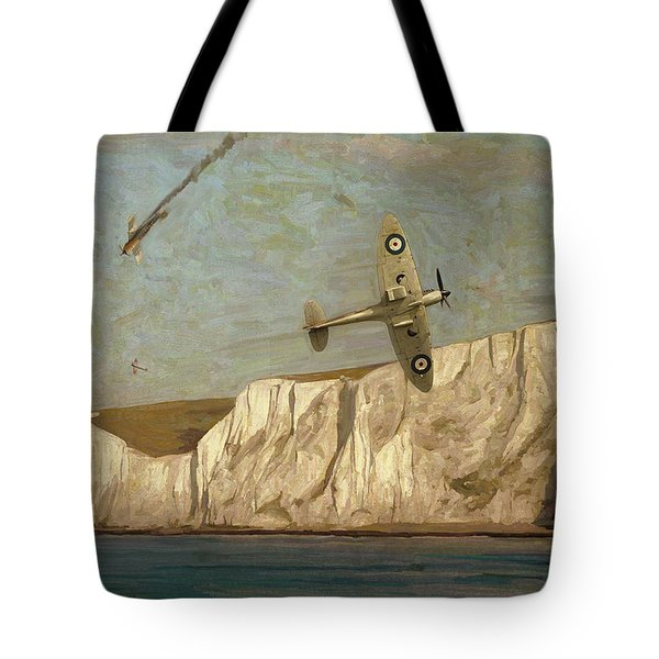 Battle Of Britain Over Dover Tote Bag