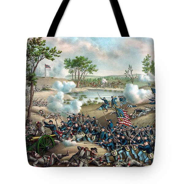 Battle Of Cold Harbor Tote Bag by War Is Hell Store