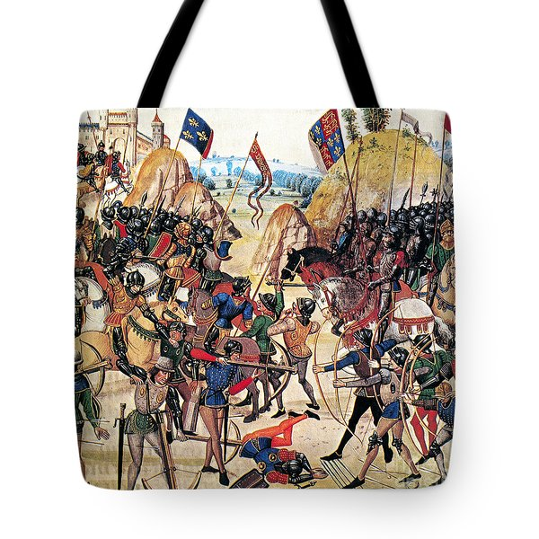 Battle Of Crecy, 1346 Tote Bag