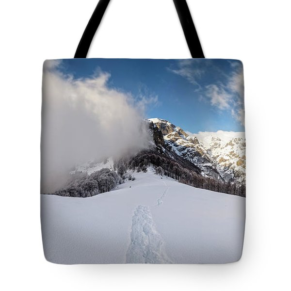 Battle Of Earth And Sky Tote Bag by Evgeni Dinev