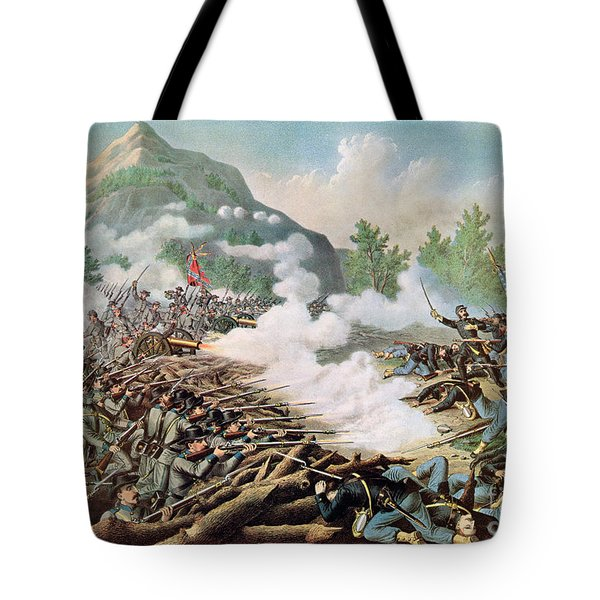Battle Of Kenesaw Mountain Georgia 27th June 1864 Tote Bag by American School