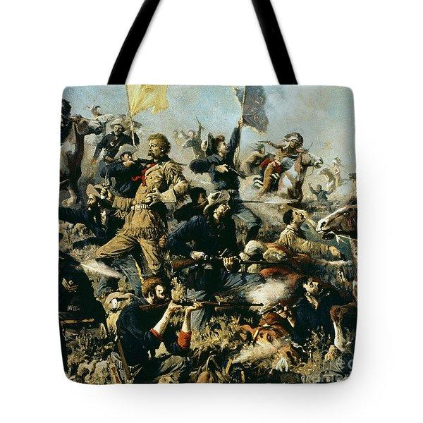 Battle Of Little Bighorn Tote Bag