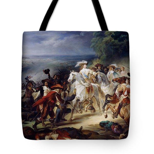Battle Of Rocroy Tote Bag by Francois Joseph Heim