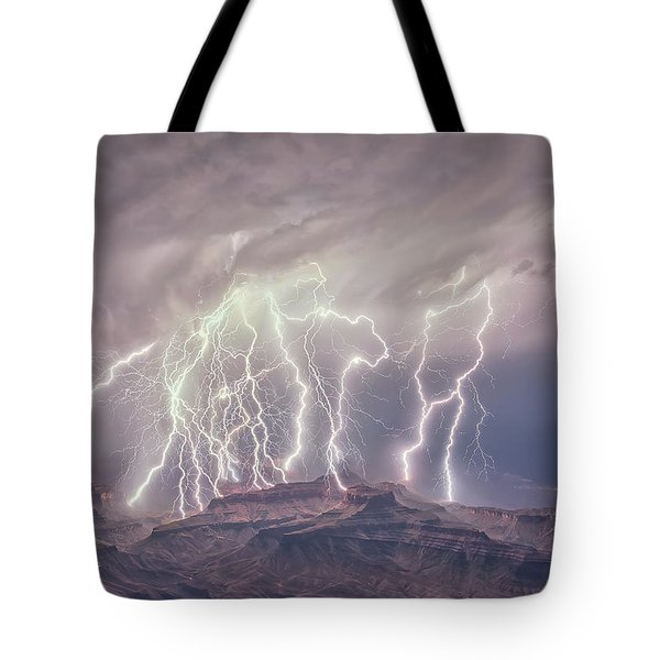 Battle Of The Gods Tote Bag
