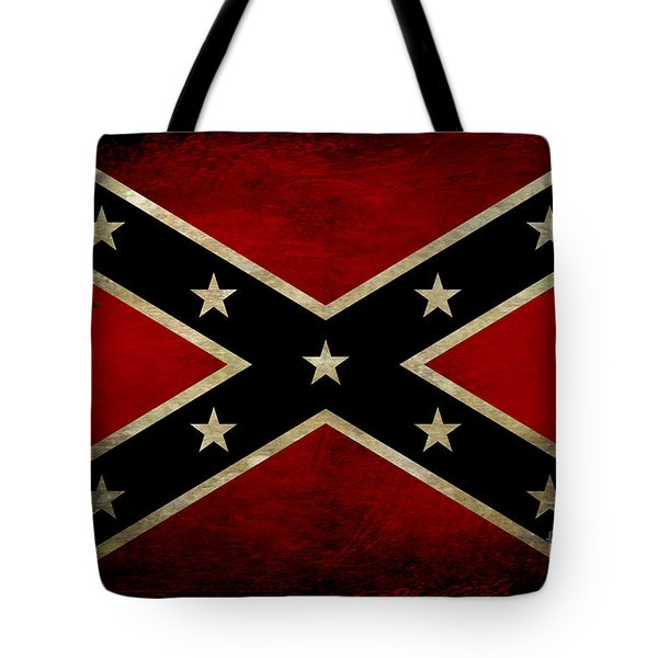 Battle Scarred Confederate Flag Tote Bag by Randy Steele