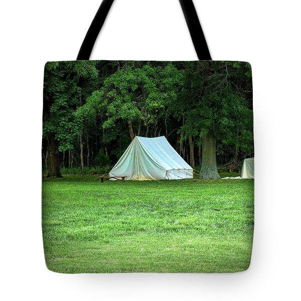Battlefield Camp Tote Bag