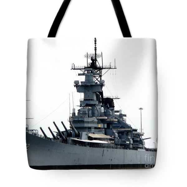 Battleship New Jersey Tote Bag
