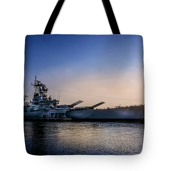 Tote Bag featuring the photograph Battleship New Jersey by Marvin Spates