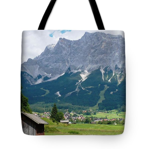Bavarian Alps Landscape Tote Bag by Carol Groenen