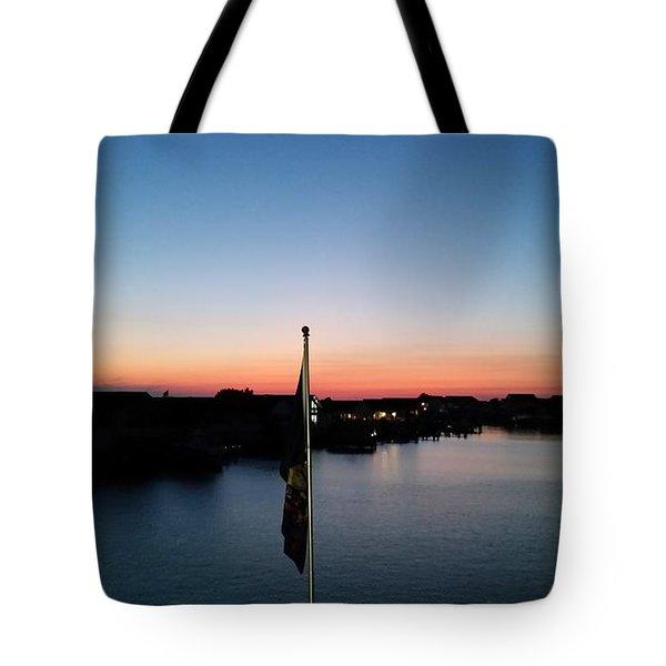 Bay At Day's End Tote Bag by Robert Banach