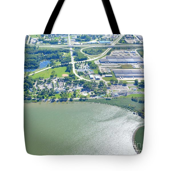 Tote Bag featuring the photograph Bay Beach Amusement by Bill Lang