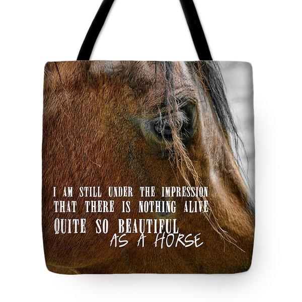 Bay Beauty Quote Tote Bag