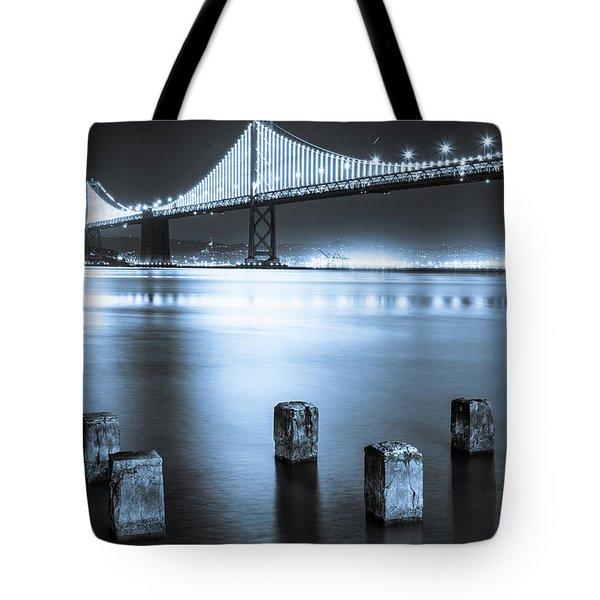 Bay Bridge 1 In Blue Tote Bag