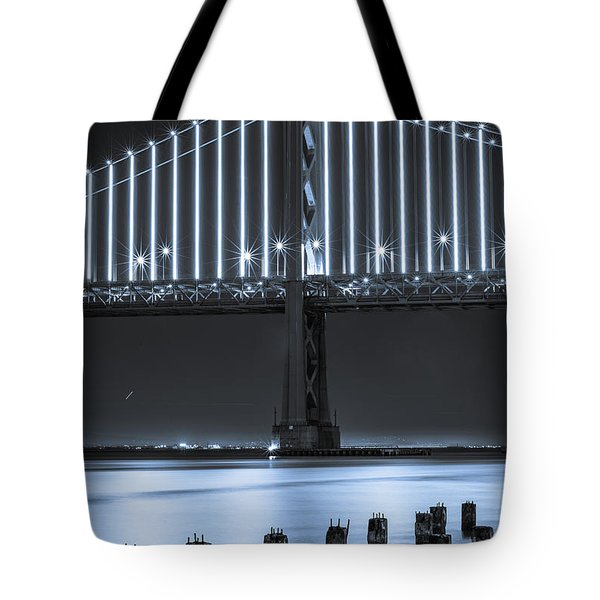 Bay Bridge 2 In Blue Tote Bag