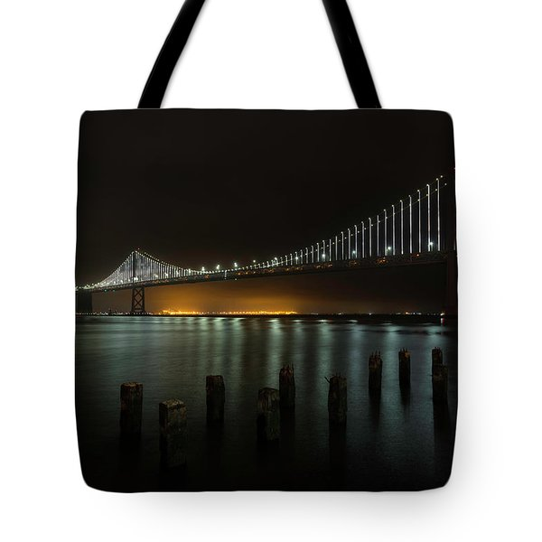 Bay Bridge At Night Tote Bag