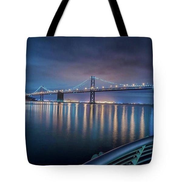 Bay Bridge Blues Tote Bag