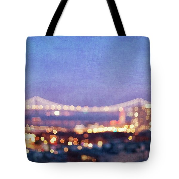 Bay Bridge Glow Tote Bag by Melanie Alexandra Price