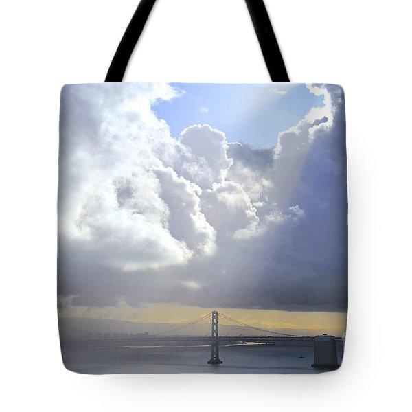Bay Bridge Glow Tote Bag