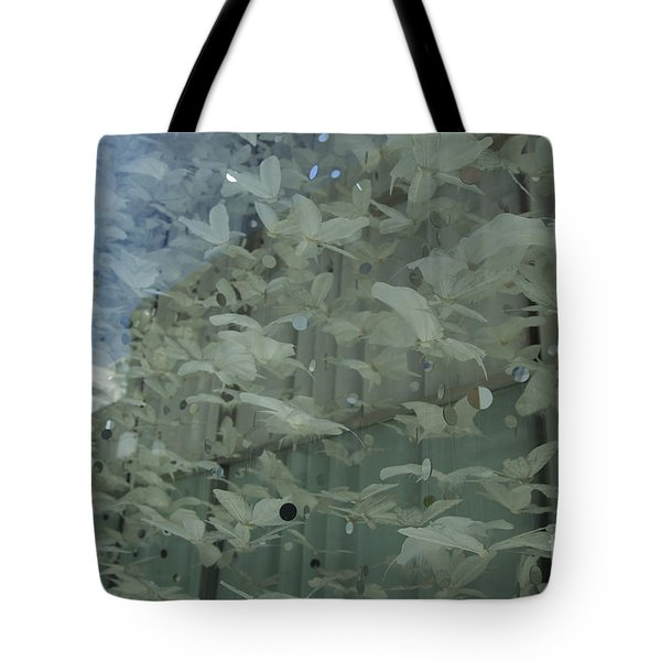 Tote Bag featuring the photograph Bay City Reflections by Jeanette French